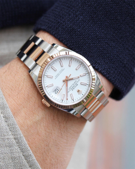 NY Rolex Datejust 36 Steel/Rosegold